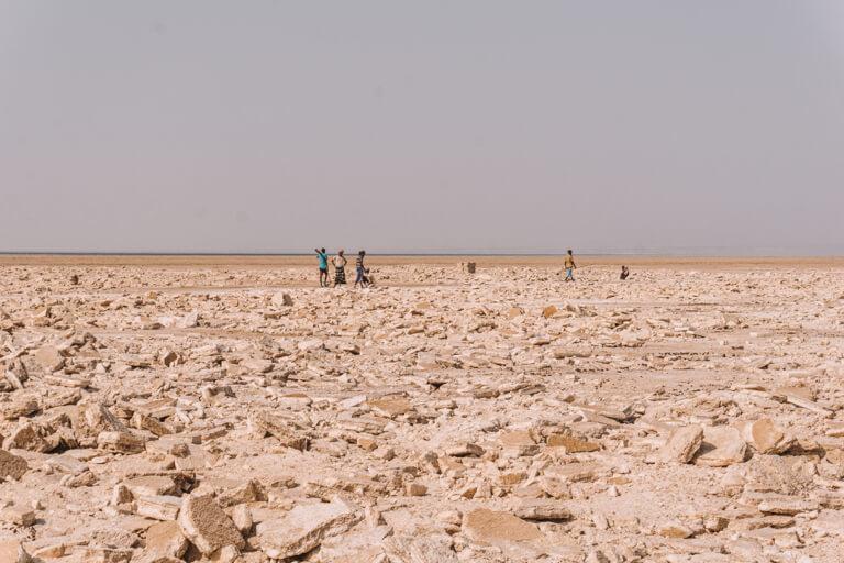 Afar driehoek zoutwinning Danakil woestijn