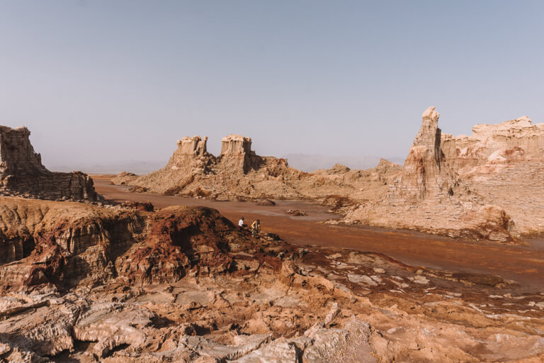 Dallol vulkaan zout canyon
