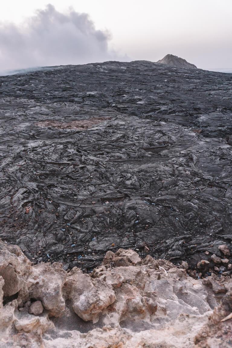 Erta Ale vulkaan Ethiopië Danakil vallei lava veld