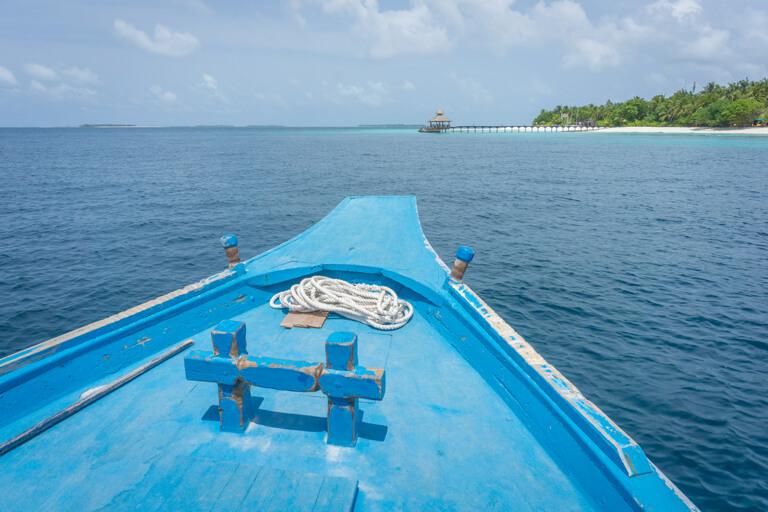 Maldiven Eilanden Dhoni houten boot