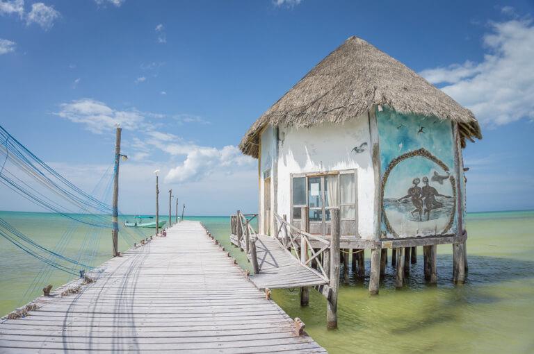 Rondreis Mexico Isla Holbox Fischerhuette