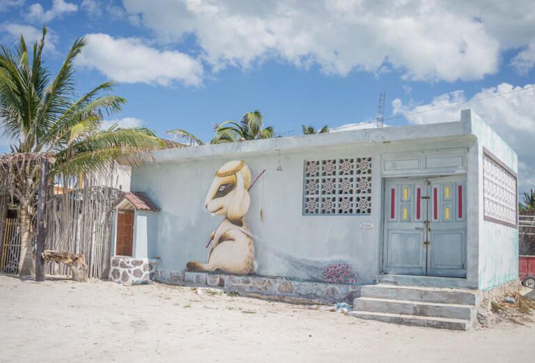 Street Art Hare Island Holbox Mexico