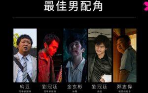 第23屆台北電影獎最佳男配角入圍名單
