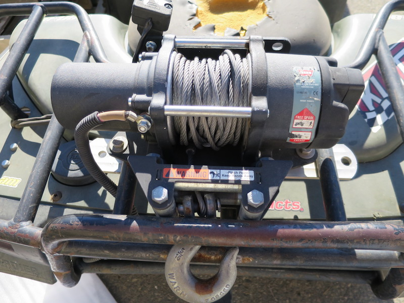 winch on back of atv