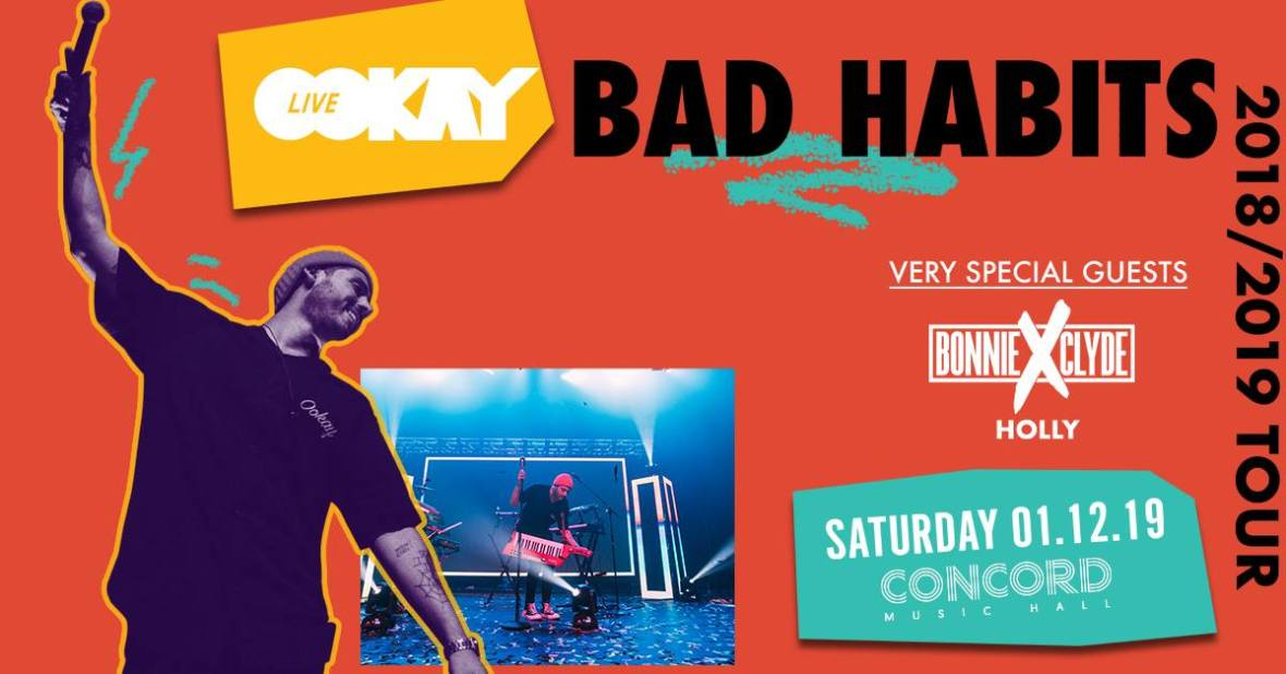 Ookay @ Concord Music Hall (1/12/19) [GIVEAWAY]