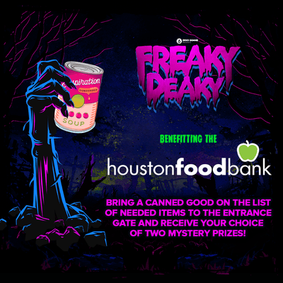 Freaky Deaky Texas Announces Food Drive Benefiting the Houston Food Bank, Giving Attendees Opportunities to Win Prizes