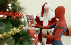 Spider-Man Visit at Marine Unit for Toys for Tots #3