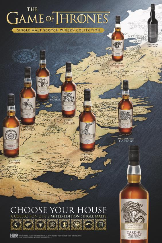 Game of Thrones Single Malt Scotch Whisky Vertical