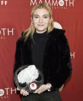 MAMMOTH LAKES, CALIFORNIA - FEBRUARY 10: Skyler Samuels poses for portrait with award the 2nd Annual Mammoth Film Festival on February 10, 2019 in Mammoth Lakes, California. (Photo by Michael Bezjian/Getty Images for 2019 Mammoth Film Festival)