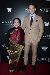 "NEW YORK, NY - NOVEMBER 13: Swati Bhise and Ben Lamb attend The Wing Hosts The World Premiere Of Roadside Attractions' ""The Warrior Queen Of Jhansi"" at Metrograph on November 13, 2019 in New York. (Photo by Paul Bruinooge/PMC/PMC) *** Local Caption *** Swati Bhise;Ben Lamb"