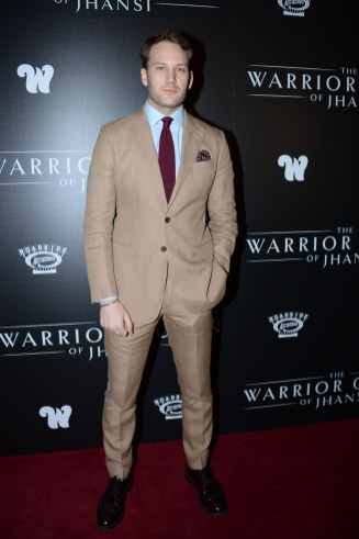"NEW YORK, NY - NOVEMBER 13: Ben Lamb attends The Wing Hosts The World Premiere Of Roadside Attractions' ""The Warrior Queen Of Jhansi"" at Metrograph on November 13, 2019 in New York. (Photo by Paul Bruinooge/PMC/PMC) *** Local Caption *** Ben Lamb"