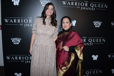 "NEW YORK, NY - NOVEMBER 13: Kristine Keller and Swati Bhise attend The Wing Hosts The World Premiere Of Roadside Attractions' ""The Warrior Queen Of Jhansi"" at Metrograph on November 13, 2019 in New York. (Photo by Paul Bruinooge/PMC/PMC) *** Local Caption *** Kristine Keller;Swati Bhise"