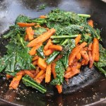 sweet potato, carrot & kale palya