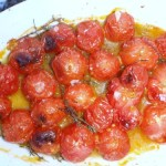roasted thyme infused cherry tomatoes