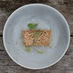 sesame crusted brown rice spelt bread