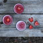 strawberry raspberry goji smoothie