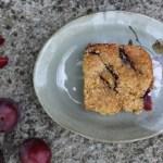 plum millet cake (vegan)