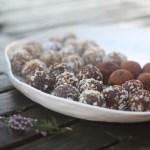 chocolate-hazelnut truffles & pecan-cardamom date balls (vegan)