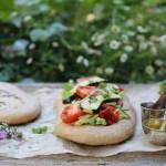 easy spelt focaccia & a vegetable garden