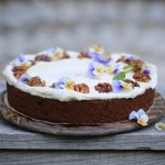 carrot cake with a cream cheese frosting (vegan)