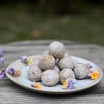 salted tahini caramel balls