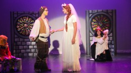 Parkview students performing Shrek the Musical Jr.
