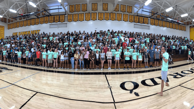 El Dorado High School freshman orientation.