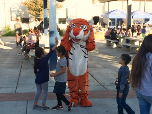The Tiger enjoying the VHS AVID tailgate.