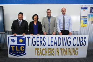 Valencia's admin team including Jeff Louie, Olivia Yaung, Mike Young, and Chris Herzfeld.