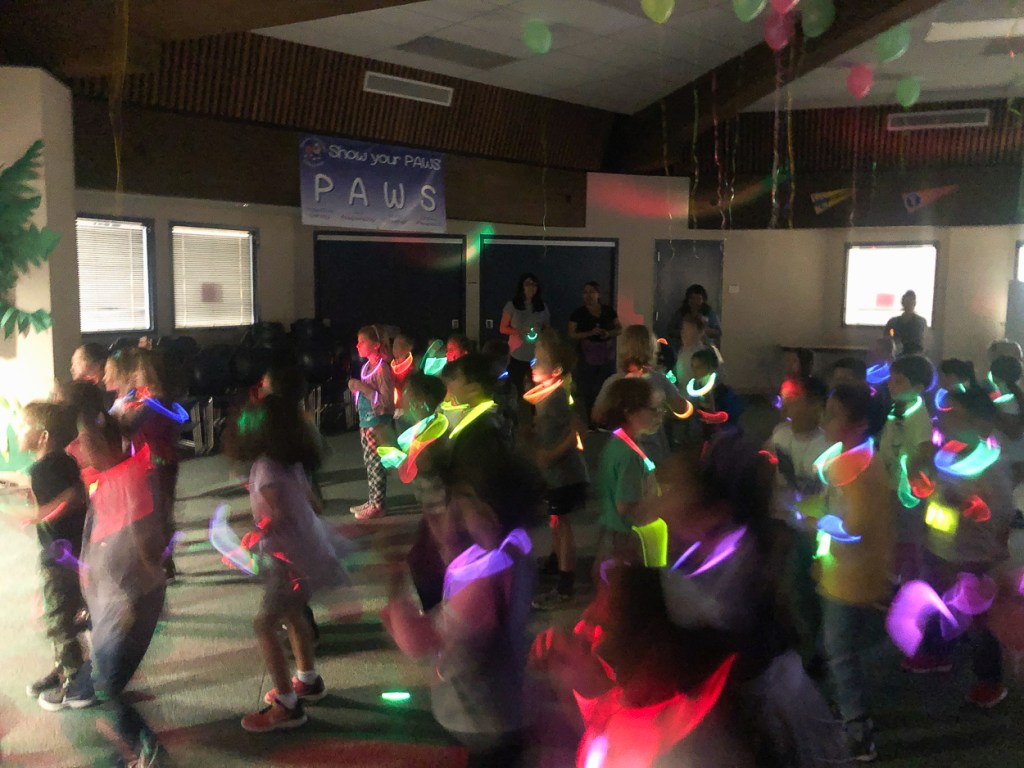 Glow party at Glenview Elementary.
