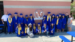 Valencia High School graduates with the Class of 2019 visiting their former middle school, Valadez Middle School Academy in Placentia on Wednesday, June 12.