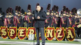 PYLUSD Superintendent, Dr. Greg Plutko, speaks to all in attendance at the 44th Annual Band Pageant on Wednesday, November 6, 2019.