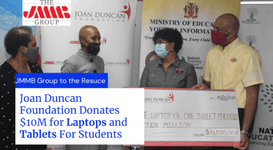 JMMB Donation for laptop and tablet