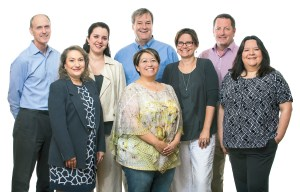 Mark Vanderlinden, Chief Lending Officer; Lisa Wilson, Chief Financial Officer; Agiola Bejko, Manager of Coaching, Education & Outreach; Mike Loftin, Chief Executive Officer; Augusta Candelaria, Qualifying Broker; Laura Altomare, Director of Communications & Resource Development; Brian Anderson, Director of Real Estate Development; Elena Gonzales, Albuquerque Market Manager