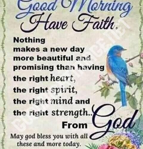 Good Morning Have Faith