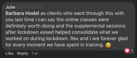 Great feedback about At-Home LIVE classes