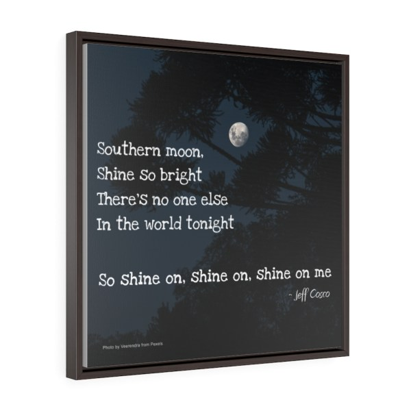 Southern Moon Square Framed