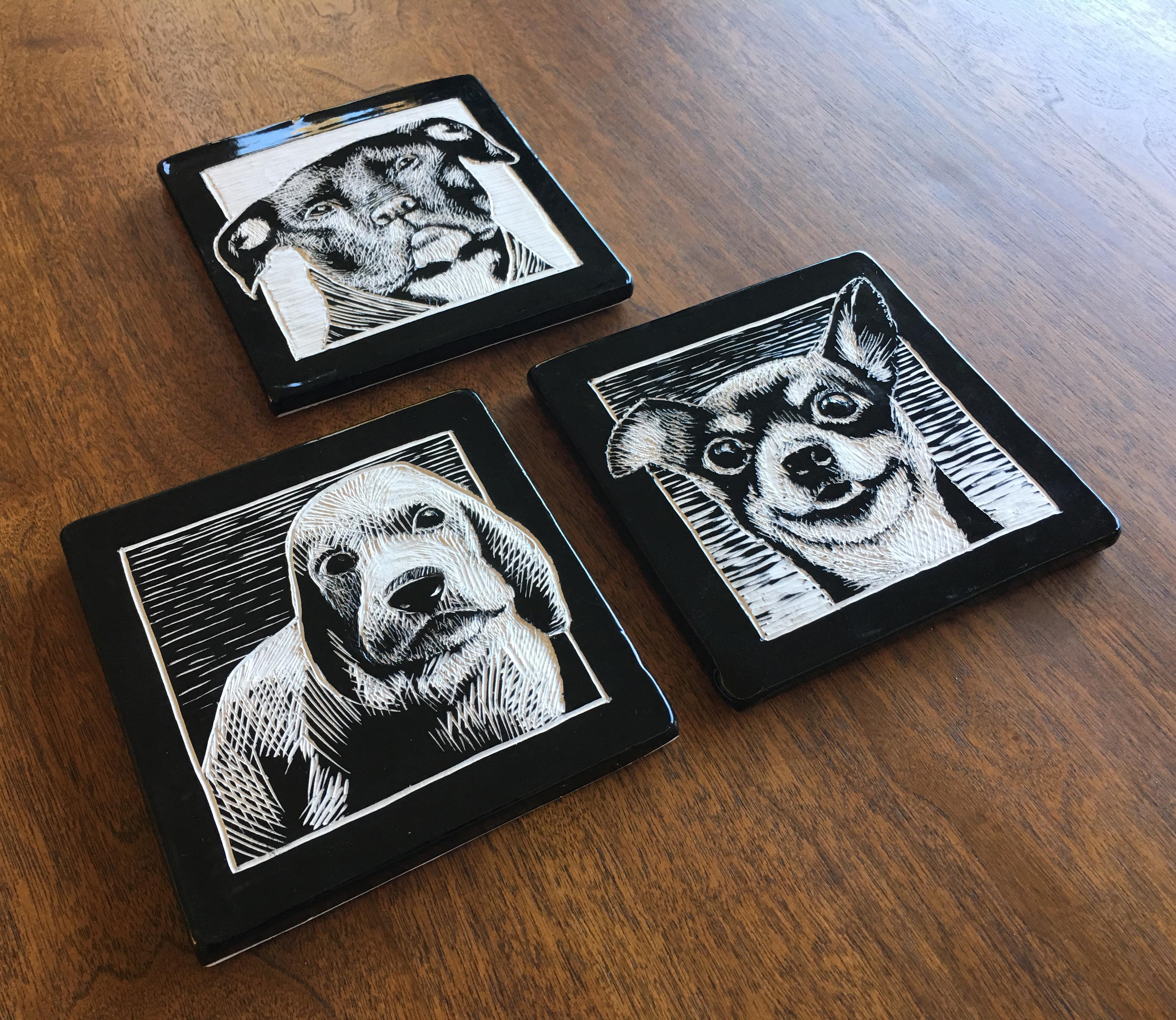 more scratching dogs good press ceramics