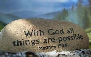 Matthew 19 v 26