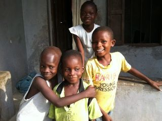 March 7 2012 smiling kids in Liberia