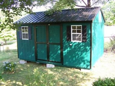 10 x 14 Painted A-roof Metal SPEC 2