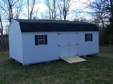 12 x 24 Painted High barn Shingled SPEC