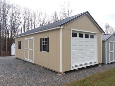 Painted A-Roof Metal Garage