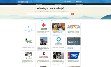 Go to Goodshop.com and visit the Goodshop Give page to see if your organization is already a participating cause.