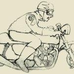 Sketch Wilkinson Bros AMA Vintage Motorcycle Days