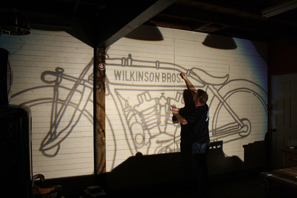 indian motorcycle mural by wilkinson brothers