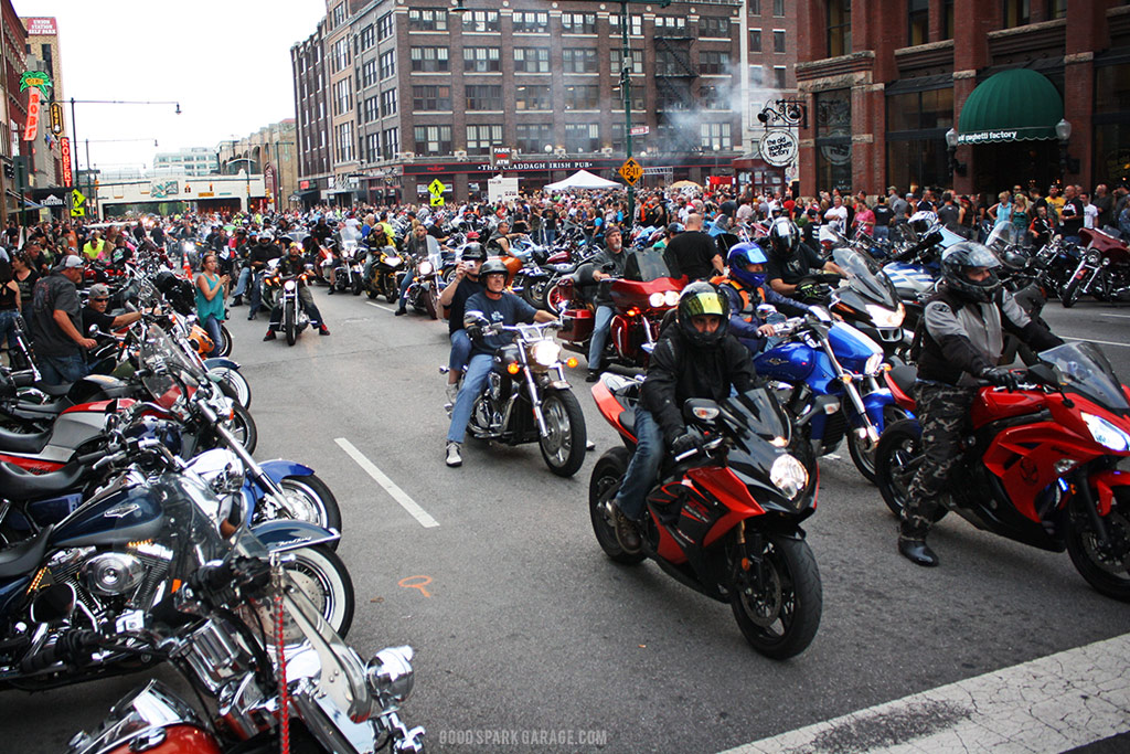Motorcycles on Meridian 2014 - Indy - Good Spark Garage