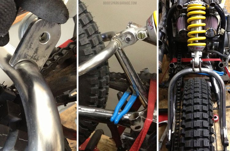 Swingarm hoop and and shock mount