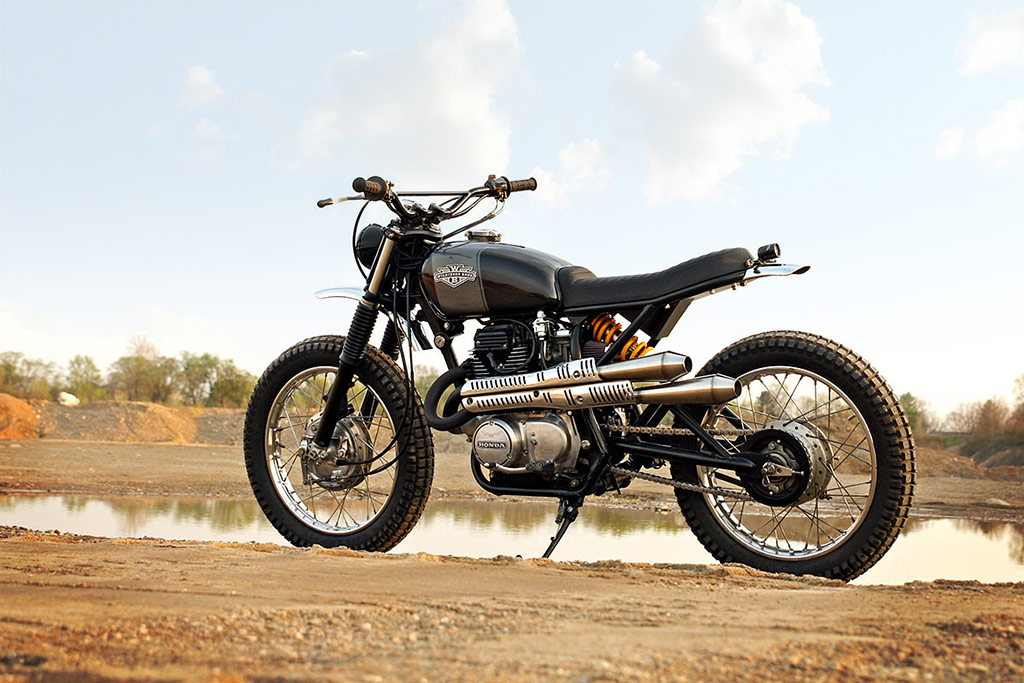 Wilkinson Bros Custom Motorcycle A 1975 Honda Scrambler CL360
