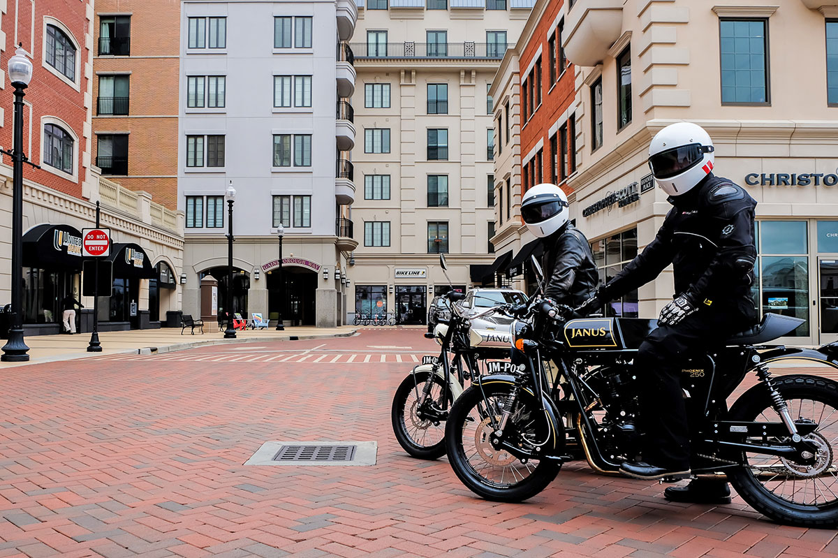 City Center on Janus Motorcycles Test Ride